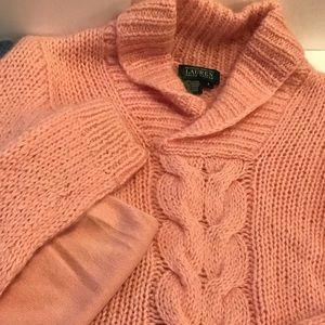Pink long sleeves wool sweater by Ralph Lauren